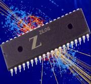 Ilustração de chip quântico homeopático